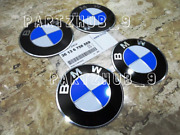 4 Genuine Wheel Center Cap Emblems For Bmw 36136758569 70.0mm 2.7 Adhesive Diy