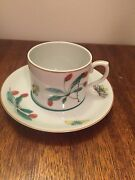 Mottahedeh Portugal Famille Verte Pattern Cup And Saucer Set S