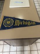 Awesome University Of Michigan 1940s Pennant