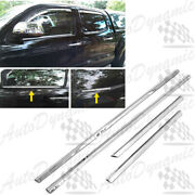 For 2005-2015 Toyota Tacoma Double Cab 4pcs Stainless Steel Window Sill Trim Set