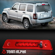 Fits 2008-2012 Jeep Liberty[chrome/red]led Third 3rd Brake Light W/washer Nozzle