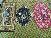 3 Pieces Antique Chinese Panels For Table / Framing Almost 70 Years Old