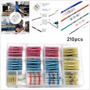 210pcs Solder Seal Butt Connectors And Heat Shrink Wire Terminals Electrical Crimp