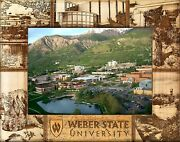 Weber State University Engraved Wood Picture Frame 5 X 7