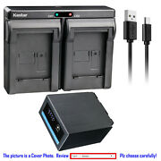 Kastar Battery Dual Charger For Panasonic Cgr-d54 Cgr-d54s Cgrd54se Battery