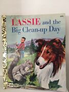 Lgb Little Golden Book Sc Free Post Lassie And The Big Clean Up Day 1978 E572