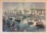The Great Naval Review - The Dolphin With The Presidential Party Schell 1887