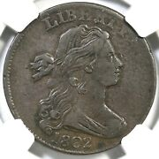1802 S-229 Ngc Vf 35 Draped Bust Large Cent Coin 1c