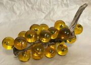 Vintage Lucite/acrylic Decorative Cluster Of Grapes