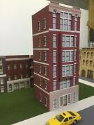 O Scale Layout Building Cameron Apartments 6-story Lit Cs-01-6030-bay-wl-b2