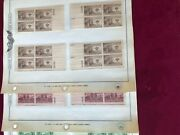3 Cent Plate Blocks With Matching Plate 's 22 Different Stamps 88 Plate Blocks.