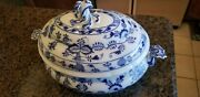 Blue Onion Meissen Casserole With Lid 16 By 11 By 12 High