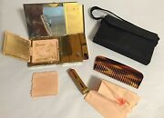 Vintage Volupte Piano Style Musical Compact Lipstick Holder Purse Comb W/ Makeup
