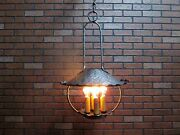 Vintage Antique 1920 Hand Wrought Ceiling Lantern Light A And C California Mission