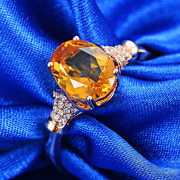 1.27ct Yellow Brazil Citrine Oval Cut Solid 14k Rose Gold Natural Diamond Ring