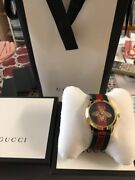 Gold Bee Watch Shop Limited Rare Red Green Alessandro Michele Never Used
