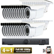 24ch 1080p Dvr High Difinition 2.6mp 4-in-1 72ir Varifocal Zoom Security Camera