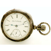 Antique Elgin Pocket Watch Ca1893   15 Jewel, 18 Size Coin Silver Case