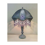 Vintage Table Lamp With Victorian Lamp Shade - Jacquelyn 0420/