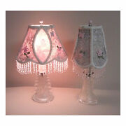 Pair 1920and039s Vintage Glass Dresser Lamps
