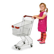 Realistic Grocery Shopping Cart Chrome - 13 W X 19.5 L X X 25 H Inches
