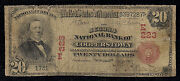 Unique Cooperstown New York Charter 223 Series1902 20.00 Red Seal