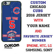 Customize Chicago Cubs Jersey Phone Case Cover Fits Iphone Samsung Etc Name And