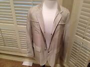 9995 Kiton Beige Silk Lining Jacket Size 44 Hand Made In Italy