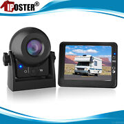 Wireless Magnetic Trailer Hitch Rear View Camera Lcd Monitor Fits Car Van Truck