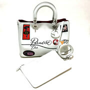 Christian Dior M0902psky Diorissimo Paradise 2 Way Hand Bag With Pouch