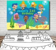 Bubble Guppies Personalised Birthday Party Banner Backdrop Background