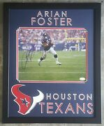 Arian Foster Signed Autographed 11x14 Houston Texans Framed 16x20 Jsa