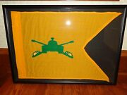 Yellow And Green Military Artillery Pennant Flag Banner 28-1/2 X 19-3/4