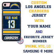 La Chargers Jersey Phone Case Cover Fits Iphone Samsung Google Etc Name