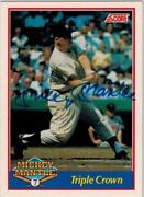 1991 Score Mickey Mantle Au Mickey Mantle Nm-mt Autographed /2500 Hard Find