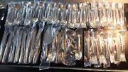 Unused Easterling Rose Spray Sterling Flatware Service For Eight - 54 Pieces
