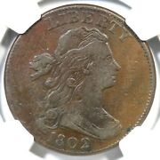 1802 S-237 R-2 Ngc Vf 25 Draped Bust Large Cent Coin 1c