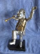 Frank Meisler Chassidic Dancer Metal Statue Signed And Numbered Catalog A080