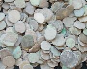 Lot Of A 21 Nice Ancient Roman Cull Coins Uncleaned And Extra Coins Added..