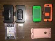 Apple Iphone 4 5 And 6 Lot Of 7 Assorted Clip/case - Otter Box Lifeproof