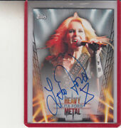 2013 Topps Heavy Metal Lita Ford Two Sided Autograph/runaways Autograph Auto
