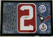 Arian Foster Signed Autographed Jersey Number Houston Texans 16x24 Jsa