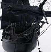 Black Pearl Pirate Ship Large With Floor Display Case Model Display