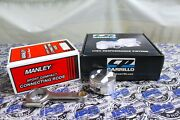 Manley Rods And Cp Pistons 81.5mm Bore 11.01 Cr For Acura Integra Gsr B18c B18c1