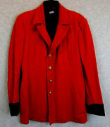 Independent Order Of Odd Fellows Patriarchs Militant Red Blazer Jacket W/buttons