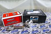 Manley Rods And Cp Pistons 82mm Bore 9.81 Cr For Acura Integra Gsr B18c B18c1