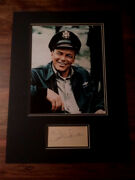 Frank Sinatra Certified Signed Autographed Vintage 16x12 Display + Coa