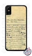 Old Library Card With Name And Book Phone Case Cover For Iphone Samsung Etc