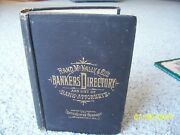 Rare 1st Edition 1885 Rand Mcnally Bankersand039 Directory List Of Attorneys Book Map
