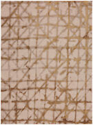 10and039 X 13and039 Karastan Machine Woven Area Rug Contact Brushed Gold Antique White